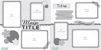 12x12 Scrapbook Templates by 12x12 Two Page Free Printable Scrapbook Layout
