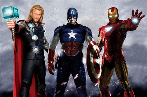 film thor ironman captain america avengers big 3 by bigbmh on deviantart