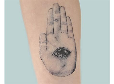 hand of hamsa henna tattoo hamsa illustration temporary on candid
