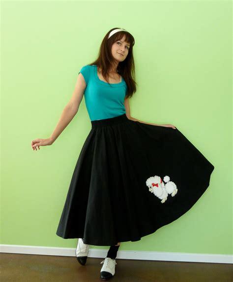 1950s poodle skirt vintage 50s sock hop costume black and