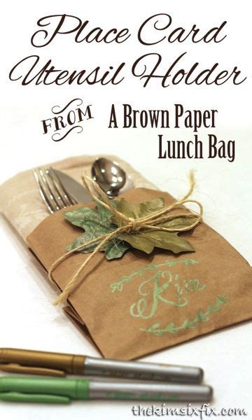 Indian And Pilgrim Photo Place Cards And Napkin Ring Template by Brown Paper Bag Place Card And Napkin Holder Brown Paper