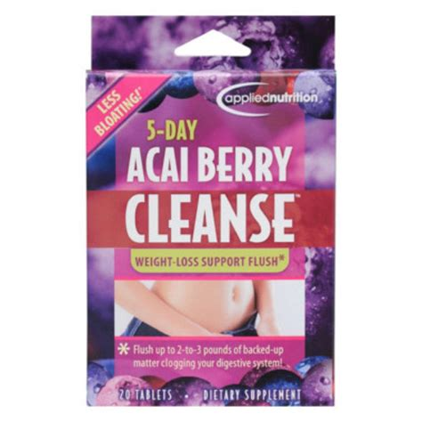 Acai Cleanse 10 Day Detox Reviews by Applied Nutrtion 5day Acai Berry Cleanse 20tabs Healthy U
