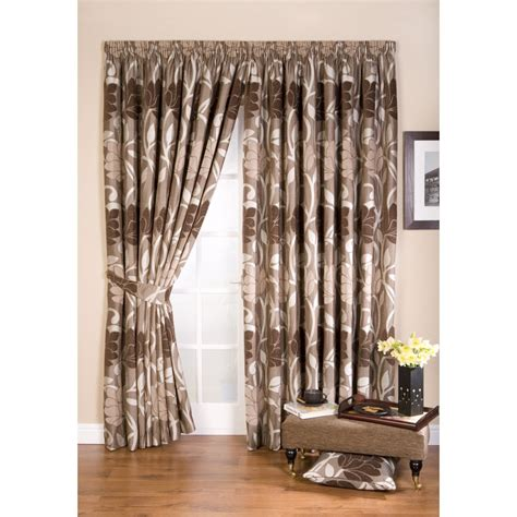 taupe pencil pleat curtains whiteheads lucille taupe floral pencil pleat readymade