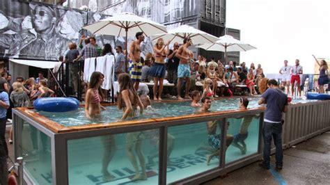 Truk Kontainer Aquarium container sa piscina container 233 poss 237 vel