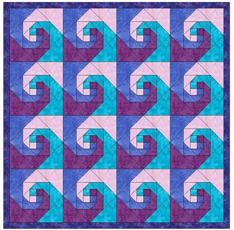 quilt pattern snail s trail snail trail chain paper piece foundation quilting block