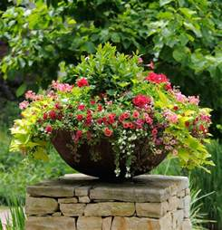 planters for container gardens thrill fill and spill three easy steps to container