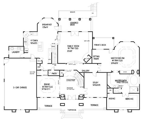 sle floor plan of a house first floor plan of house plan 56744 dream home pinterest house