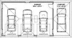 cars 3 car garage and garage on pinterest 3 car carport plans click on the garage floor plans image