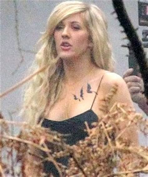ellie goulding tattoo ellie goulding gets blackbirds tribute to