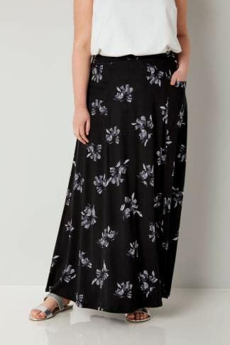 Exclusive Rok Maxi Herlita Skirt Hc Hots Product denim blue tiered maxi skirt with lace trim hem plus size 16 to 36