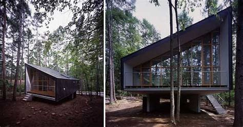 Narrow Bathroom Design by The Forest House Japanese Architecture Modern Cabins
