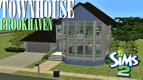 sims 2 houses sims 2 house build brookhaven townhouse youtube