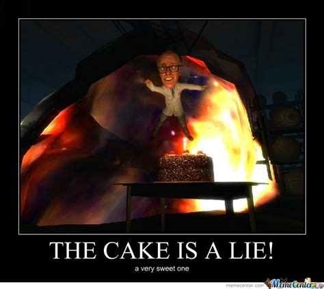 The Cake Is A Lie Meme - the cake is a lie by rados meme center