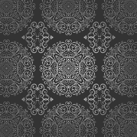 elegant batik wallpaper wallpaper arabic batik circle floral dark silver pattern
