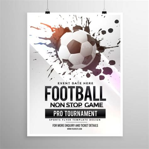 football tournament flyer template tournament vectors photos and psd files free