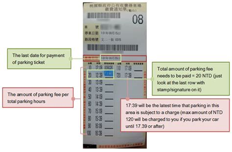 How To Pay Late Mba Parking Ticket by Parking Ticket In Taiwan Formosa Living Guide