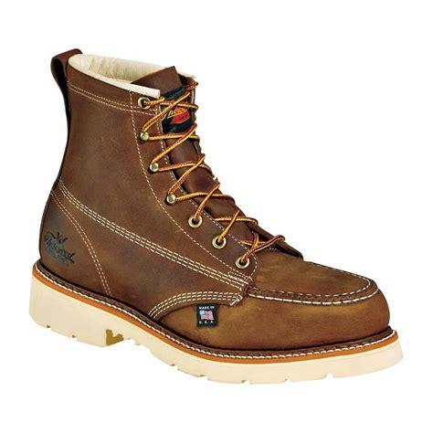 thorogood 6 inch moc steel toe us made work boot 804 4375