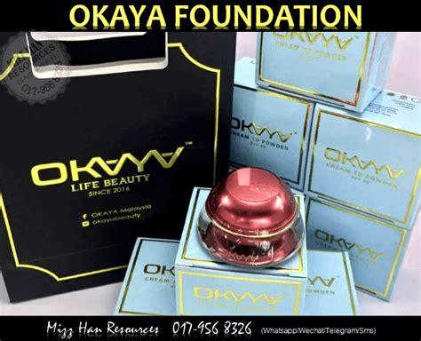 Bedak Okaya okaya foundation to powder mhr stokis produk