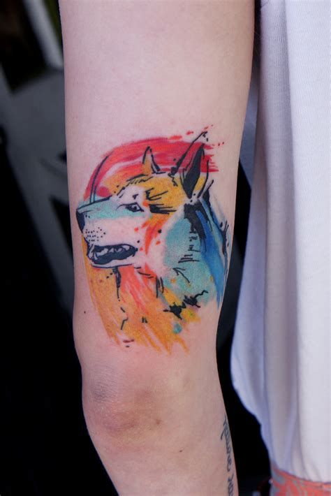 watercolor tattoo dog 41 tattoos to celebrate your four legged best friend