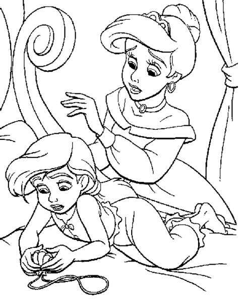 coloring page baby mermaid baby mermaid coloring pages download free printable