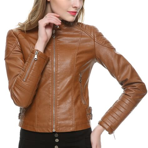 leather motorcycle jacket brands aliexpress com buy 2016 brown black faux leather jacket