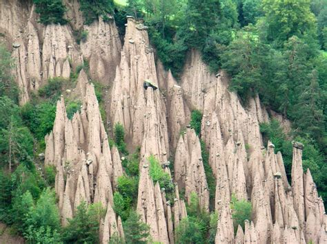 Ritten Earth Pillars (natural pyramids) in Trentino Alto