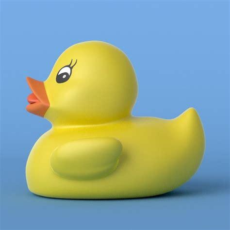 3d Rubber Duck 3d model yellow rubber duck