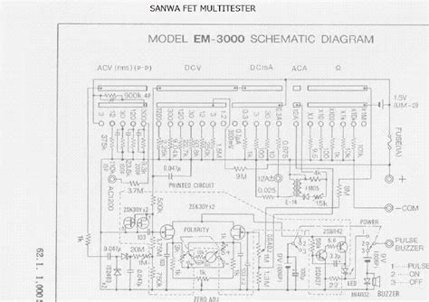Sale Multitester Samwa Yx 360tr Manual Analog sanwa analog multimeter schematic diagram circuit and schematics diagram