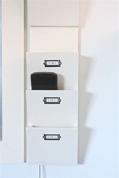 Nightstand With Charging Station by Command Center Reveal The Caldwell Project