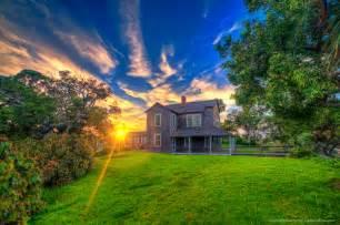 sunset homes dubois pioneer home during sunset at jupiter inlet park