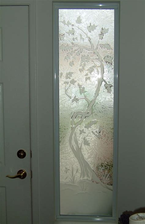 Glass Door Frosting Designs Sapling Glass Window Etched Glass Asian Decor