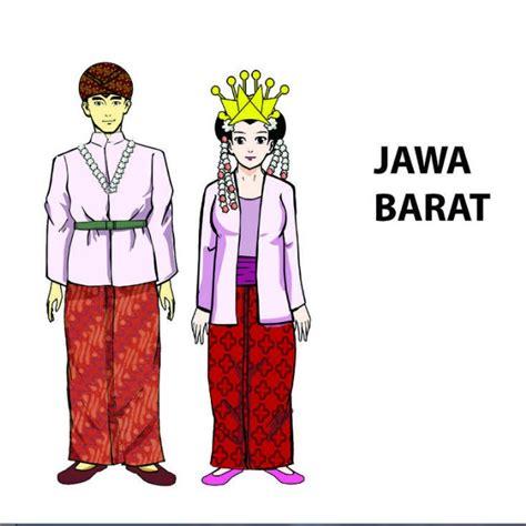 baju jawa tengah jawa barat baju adat jawa barat kartun bajutradisionals
