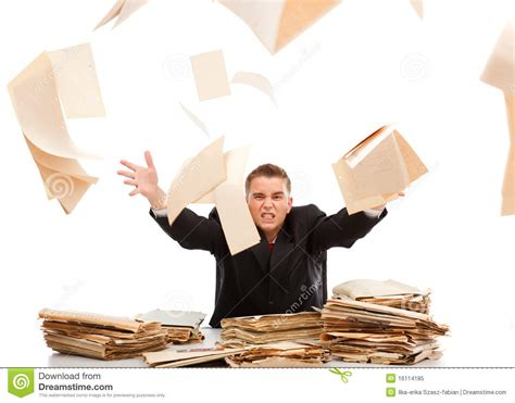 Online Paper Work From Home - man throwing away paperwork stock image image 16114185