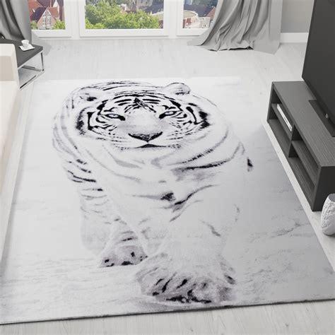 teppich weiss designer teppich schnee tiger katze wei 223 modern
