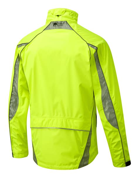 yellow cycling jacket oska hi vis yellow waterproof cycling jacket foska com