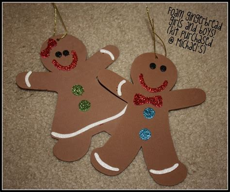 gingerbread men ornaments christmas crafts pinterest