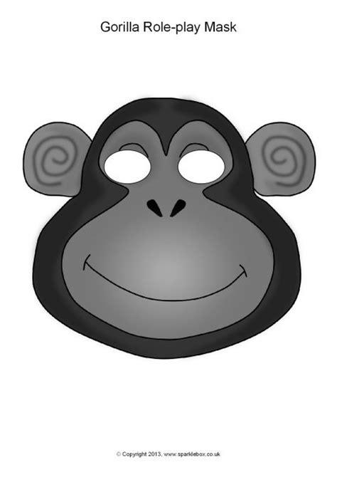printable gorilla mask free gorilla role play masks sb9879 sparklebox