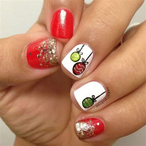 15 christmas ornament nail art designs ideas 2016 xmas