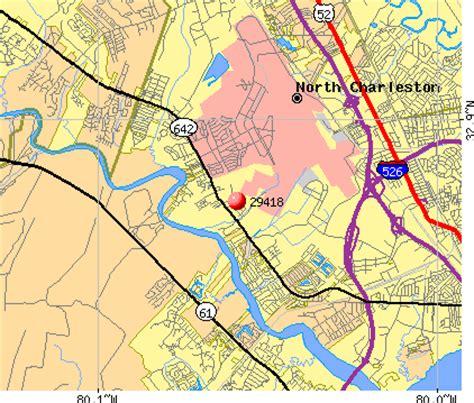 zip code map charleston sc 29418 zip code north charleston south carolina profile