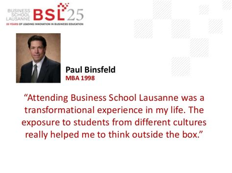 Bsl Mba business school lausanne alumni quotes