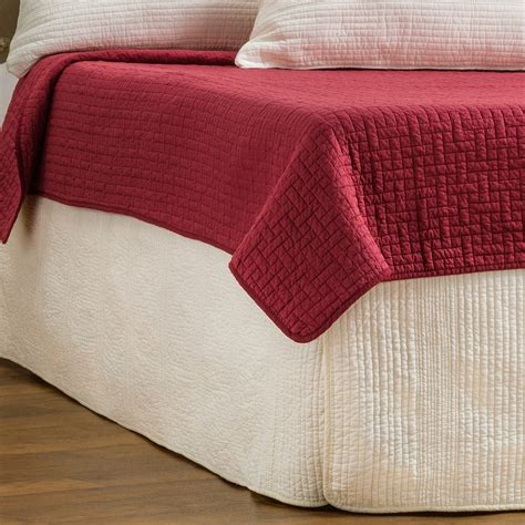hill home winslet quilted bed skirt save 37