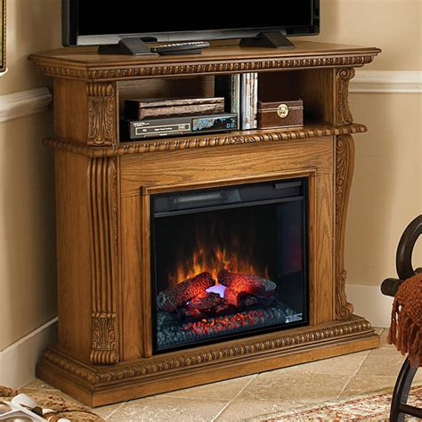 corner electric fireplaces clearance corinth 23 quot premium oak electric fireplace cabinet corner