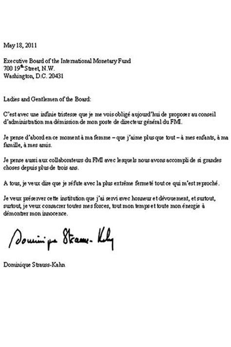 Exemple De Lettre De Démission Québec Modele Lettre De Demission Au Document
