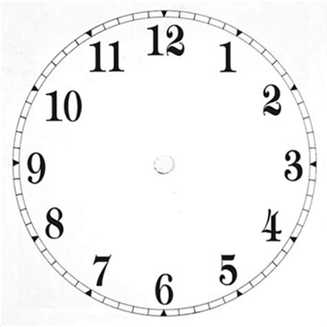 printable 6 inch clock face clock faces cliparts co