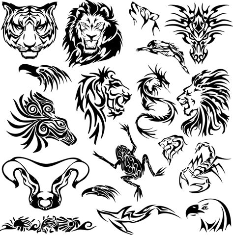 tribal leopard tattoo designs tribal animal tattoos stencil designs tattooshunt