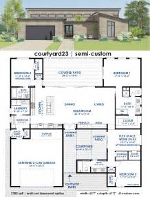 courtyard house designs courtyard23 semi custom plan
