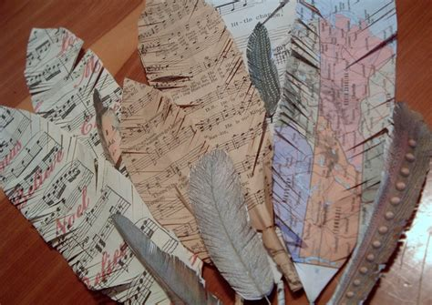 How To Make Paper Feathers - sheet paper feathers allfreepapercrafts