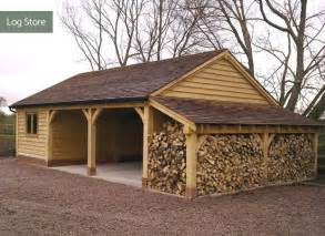 log garage designs other structures cheshire oak structures