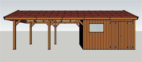 carport selber bauen carport 3 x 9 meter mit satteldach und ger 228 teschuppen aus