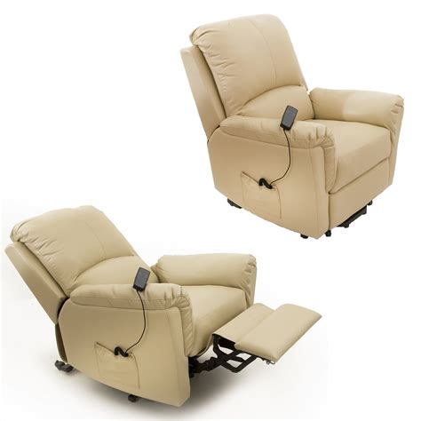 Electric Recliner Chairs Bristol Leather Electric Recliner Chair Powered Reclining Armchair Ebay